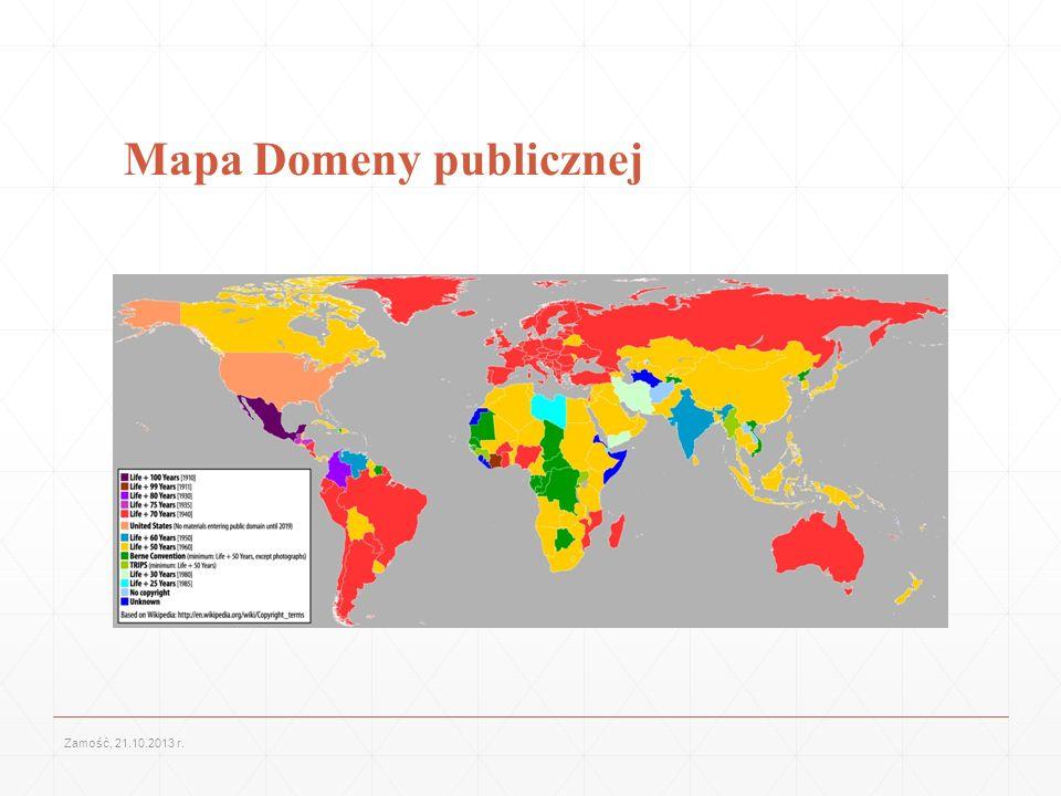 Mapa Domeny publicznej Zamość, 21.10.2013 r.