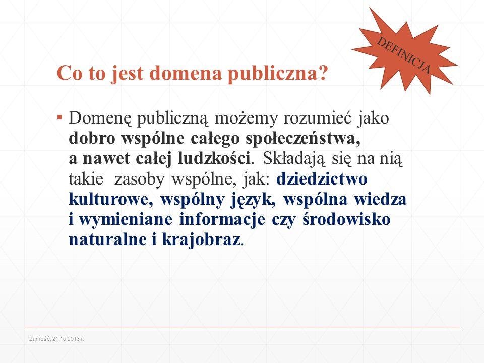 Dzień Domeny Publicznej 2013 Co roku 1 stycznia na całym świecie otwiera się dostęp do nowych zasobów, które przestały podlegać prawu autorskiemu i przeszły do domeny publicznej.