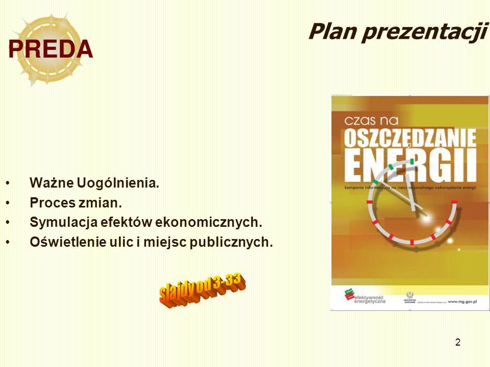 2 Plan prezentacji Ważne Uogólnienia. Proces zmian.