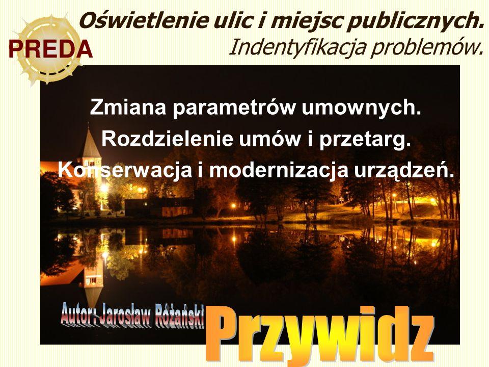 Oświetlenie ulic i miejsc publicznych. Indentyfikacja problemów.
