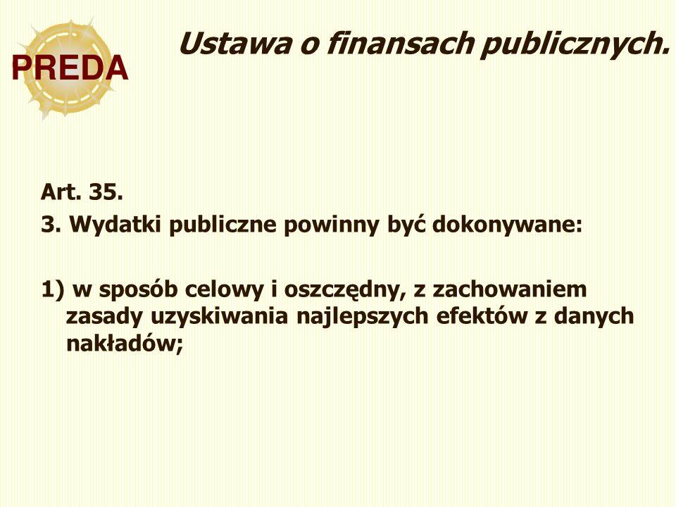 Ustawa o finansach publicznych. Art. 35. 3.
