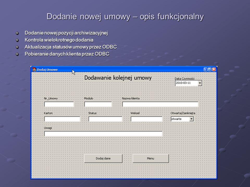 Podsumowanie Automatyzacja i optymalizacja procesów związanych z prowadzeniem archiwum papierowego.