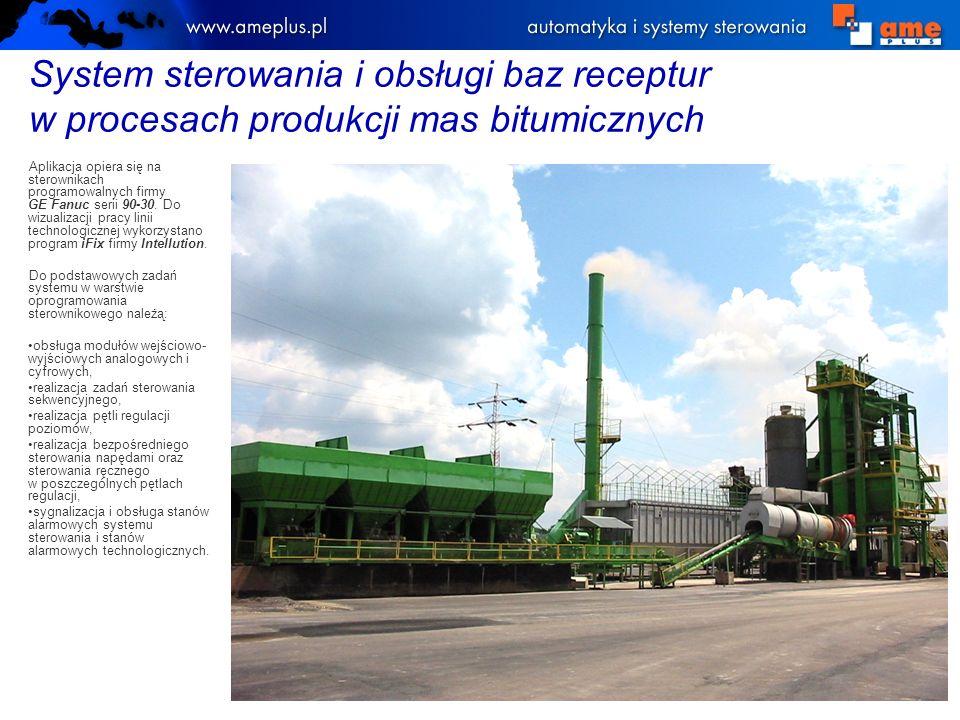 System sterowania w zakładzie chemii budowlanej w firmie QUICK-MIX