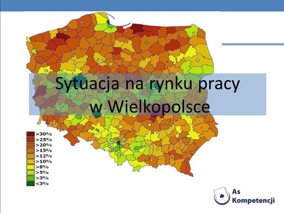 Stopa bezrobocia w Wielkopolsce na tle kraju w latach 2000-2009 Od maja 2007 r.