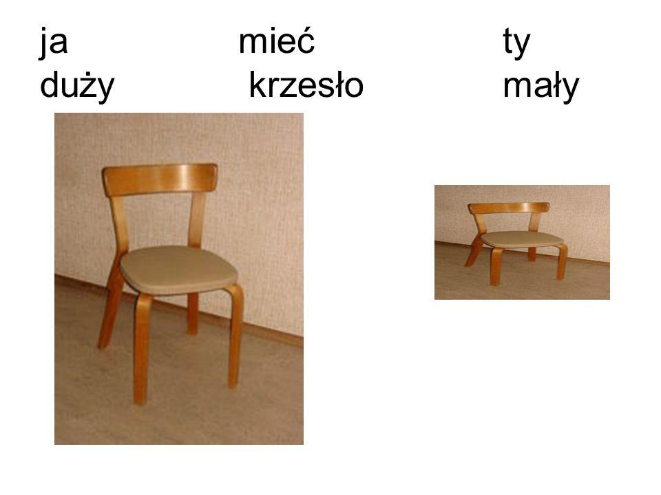 jamiećty duży krzesło mały