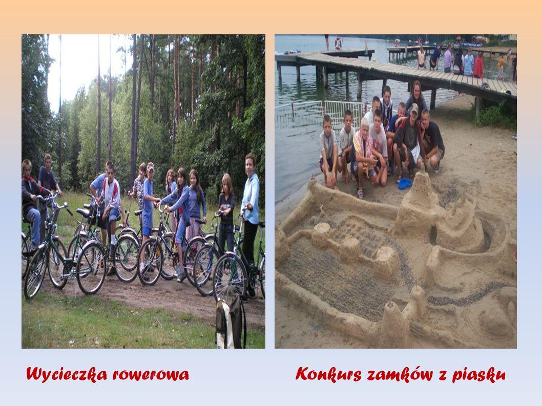 Wycieczka rowerowaKonkurs zamków z piasku