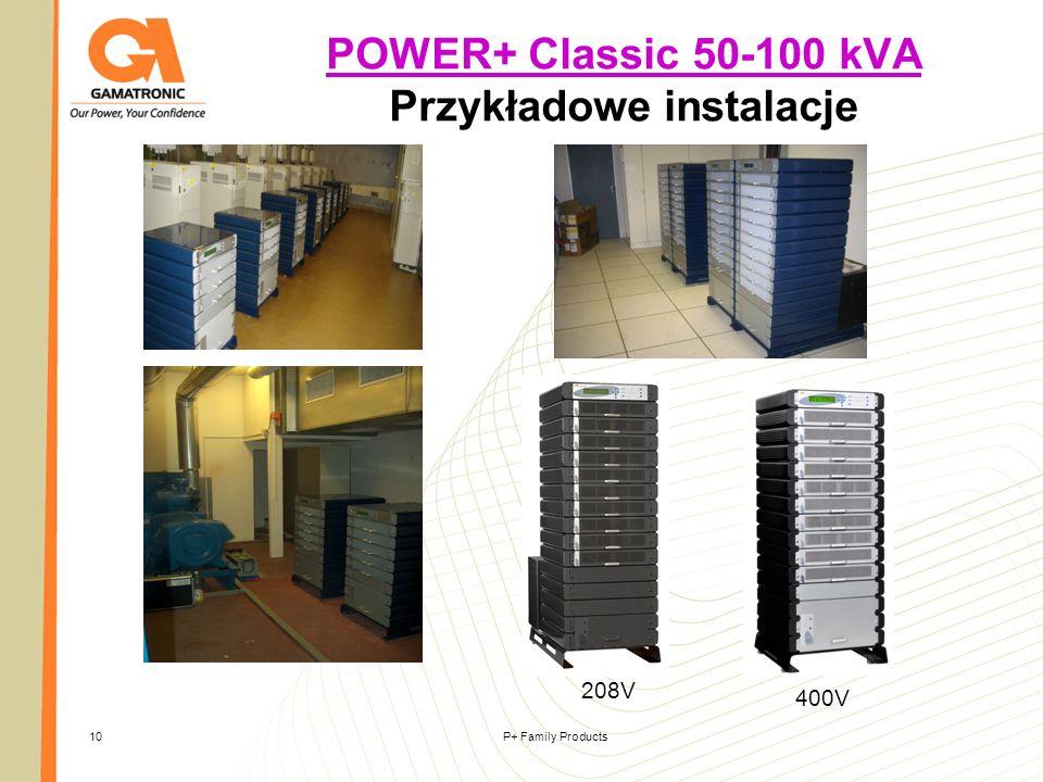 P+ Family Products10 POWER+ Classic 50-100 kVA POWER+ Classic 50-100 kVA Przykładowe instalacje 208V 400V