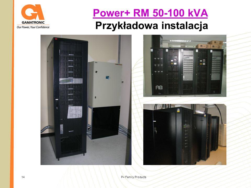 P+ Family Products14 Power+ RM 50-100 kVA Power+ RM 50-100 kVA Przykładowa instalacja