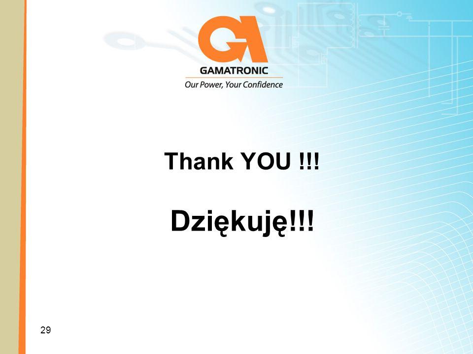 29 Thank YOU !!! Dziękuję!!!