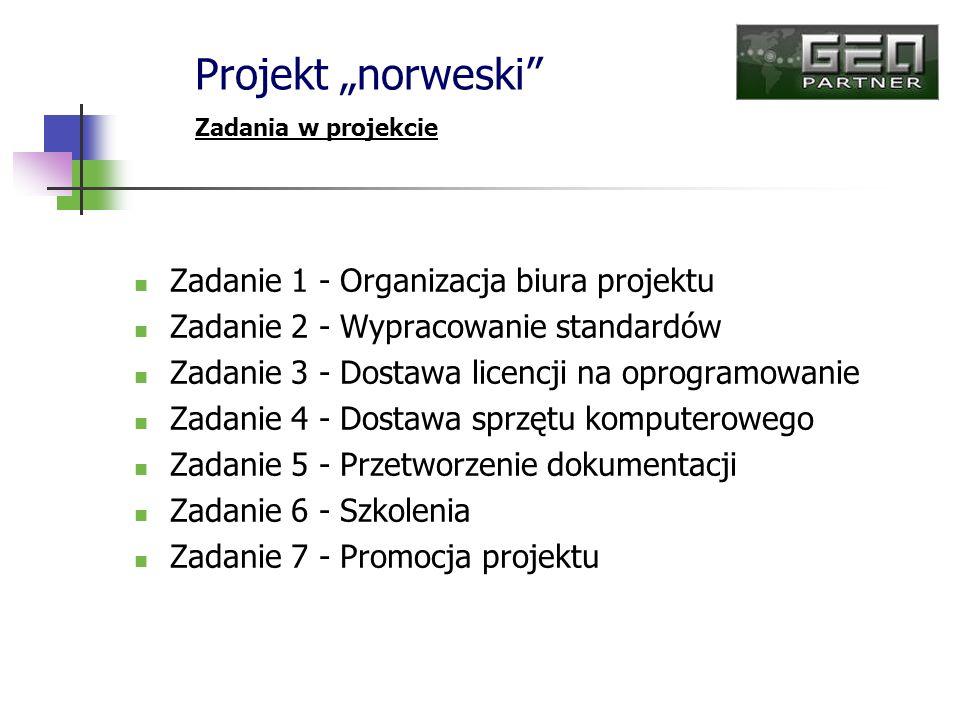 Zadanie 1 - Organizacja biura projektu Zadanie 2 - Wypracowanie standardów Zadanie 3 - Dostawa licencji na oprogramowanie Zadanie 4 - Dostawa sprzętu
