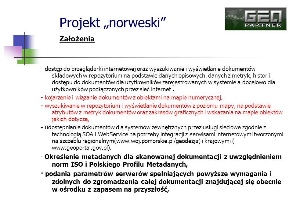 - dostęp do przeglądarki internetowej oraz wyszukiwanie i wyświetlanie dokumentów składowych w repozytorium na podstawie danych opisowych, danych z me