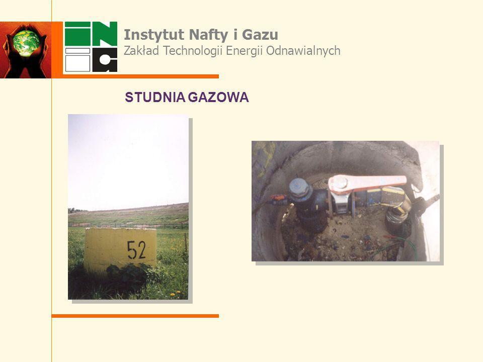 STUDNIA GAZOWA Instytut Nafty i Gazu Zakład Technologii Energii Odnawialnych