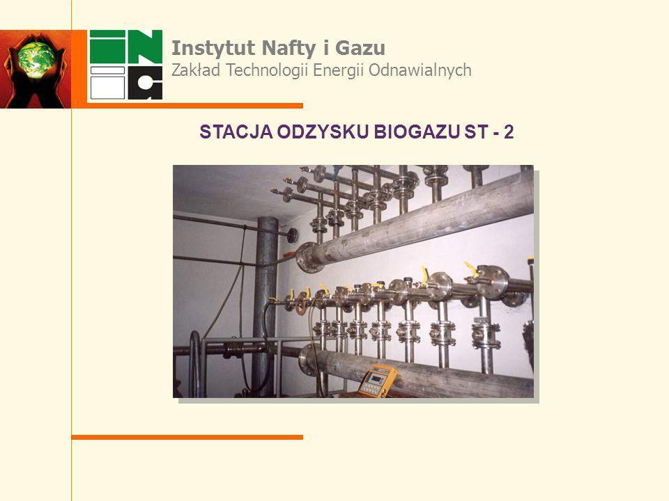 STACJA ODZYSKU BIOGAZU ST - 2 Instytut Nafty i Gazu Zakład Technologii Energii Odnawialnych