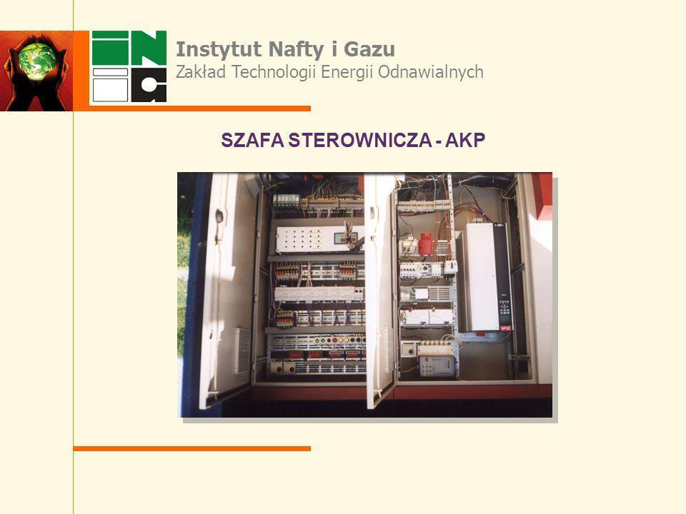 SZAFA STEROWNICZA - AKP Instytut Nafty i Gazu Zakład Technologii Energii Odnawialnych
