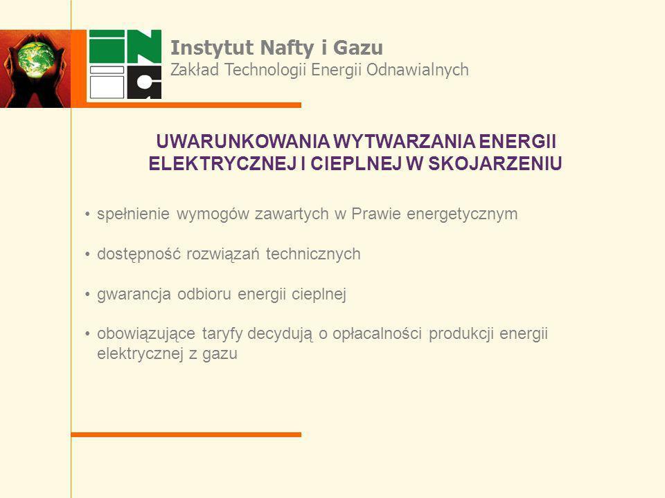 spełnienie wymogów zawartych w Prawie energetycznym dostępność rozwiązań technicznych gwarancja odbioru energii cieplnej obowiązujące taryfy decydują