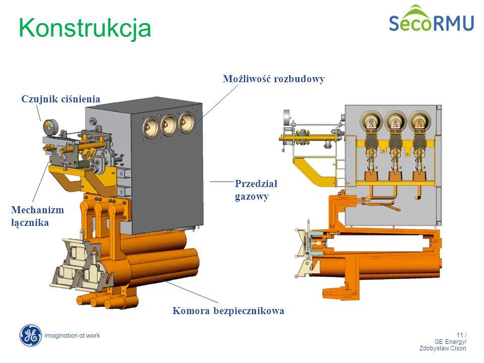 11 / GE Energy/ Zdobyslaw Cison Przedział gazowy Możliwość rozbudowy Mechanizm łącznika Czujnik ciśnienia Komora bezpiecznikowa Konstrukcja