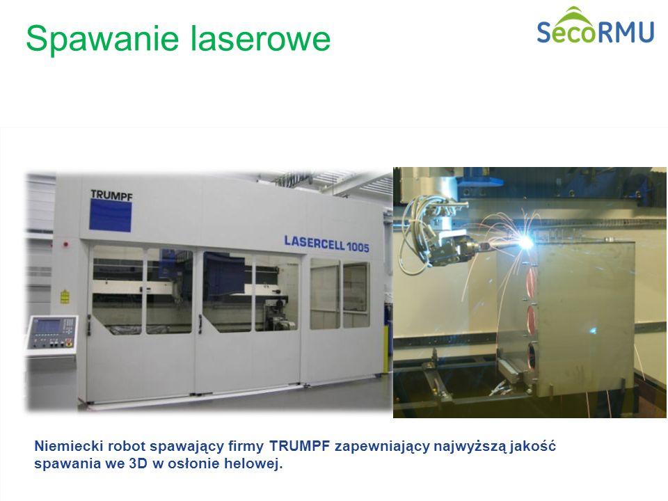 15 / GE Energy/ Zdobyslaw Cison Niemiecki robot spawający firmy TRUMPF zapewniający najwyższą jakość spawania we 3D w osłonie helowej. Spawanie lasero