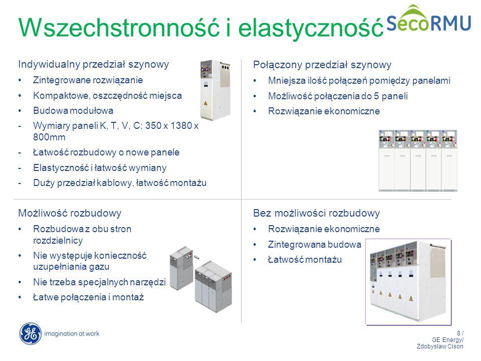 8 / GE Energy/ Zdobyslaw Cison Wszechstronność i elastyczność Indywidualny przedział szynowy Zintegrowane rozwiązanie Kompaktowe, oszczędność miejsca