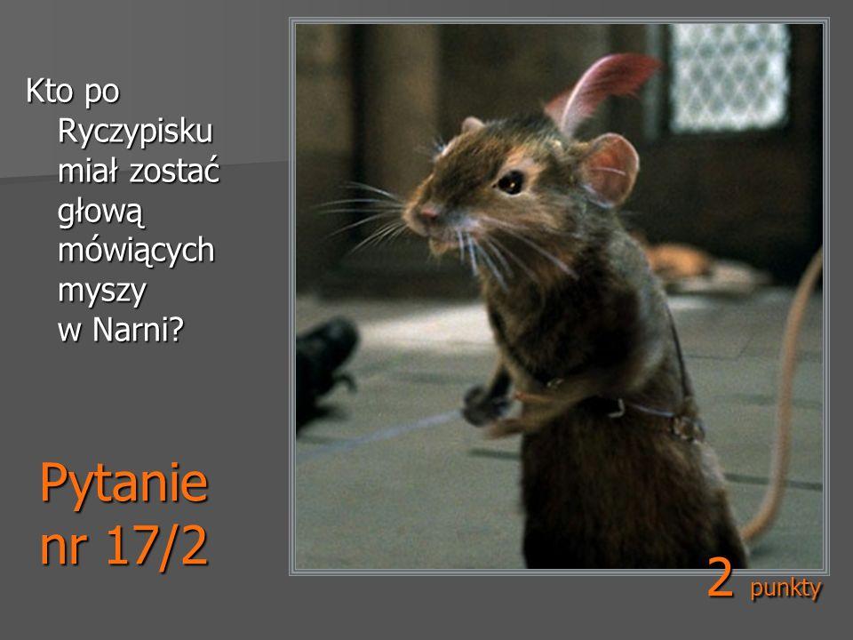 Pytanie nr 17/2 Kto po Ryczypisku miał zostać głową mówiących myszy w Narni? 2 punkty