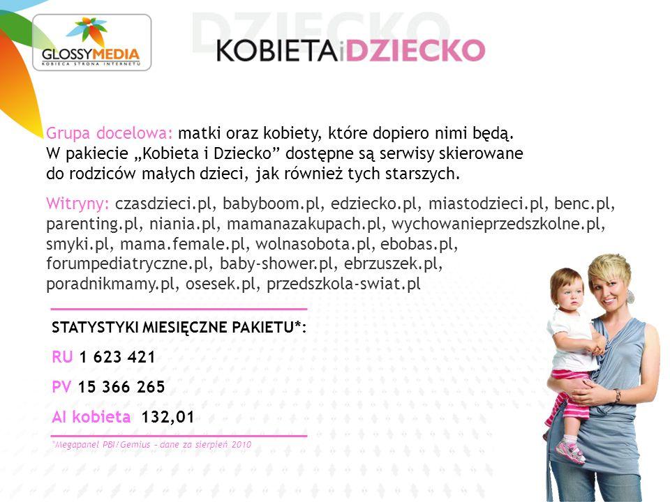 STATYSTYKI MIESIĘCZNE PAKIETU*: RU 1 623 421 PV 15 366 265 AI kobieta 132,01 Grupa docelowa: matki oraz kobiety, które dopiero nimi będą.