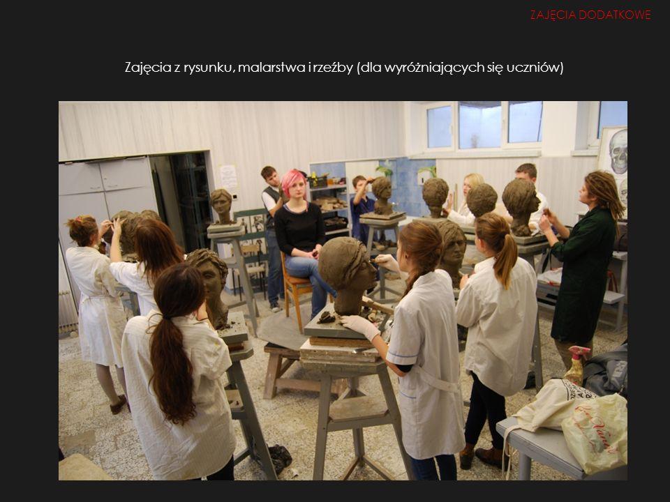 Zajęcia z rysunku, malarstwa i rzeźby (dla wyróżniających się uczniów) ZAJĘCIA DODATKOWE