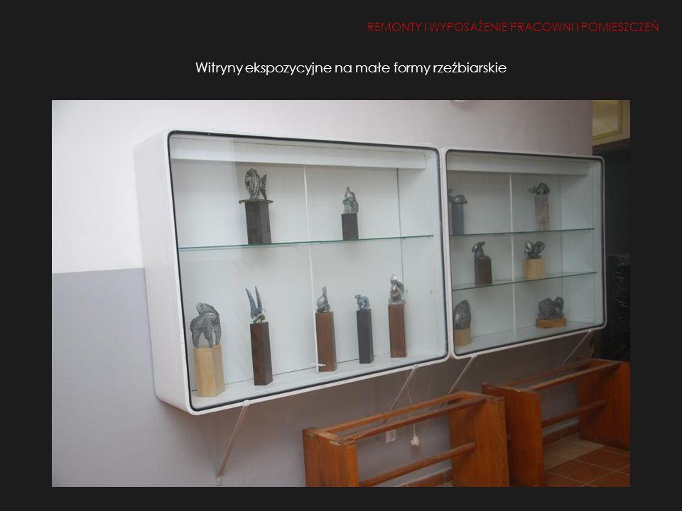 Witryny ekspozycyjne na małe formy rzeźbiarskie REMONTY I WYPOSAŻENIE PRACOWNI I POMIESZCZEŃ 1.Remont i doposażenie pracowni i pomieszczeń 2, 50, 26