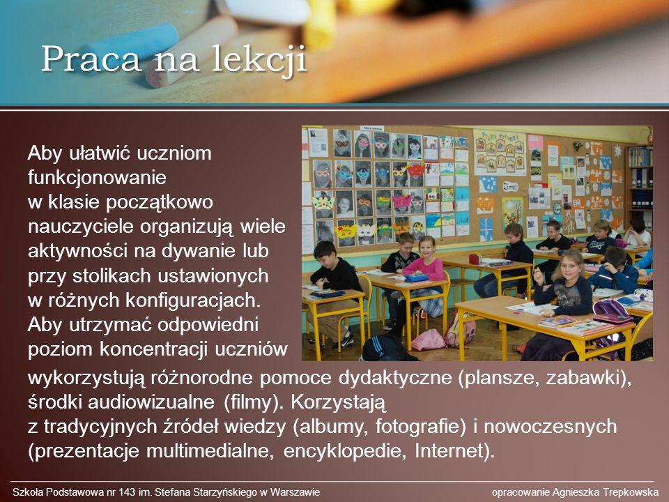 Praca na lekcji Szkoła Podstawowa nr 143 im.