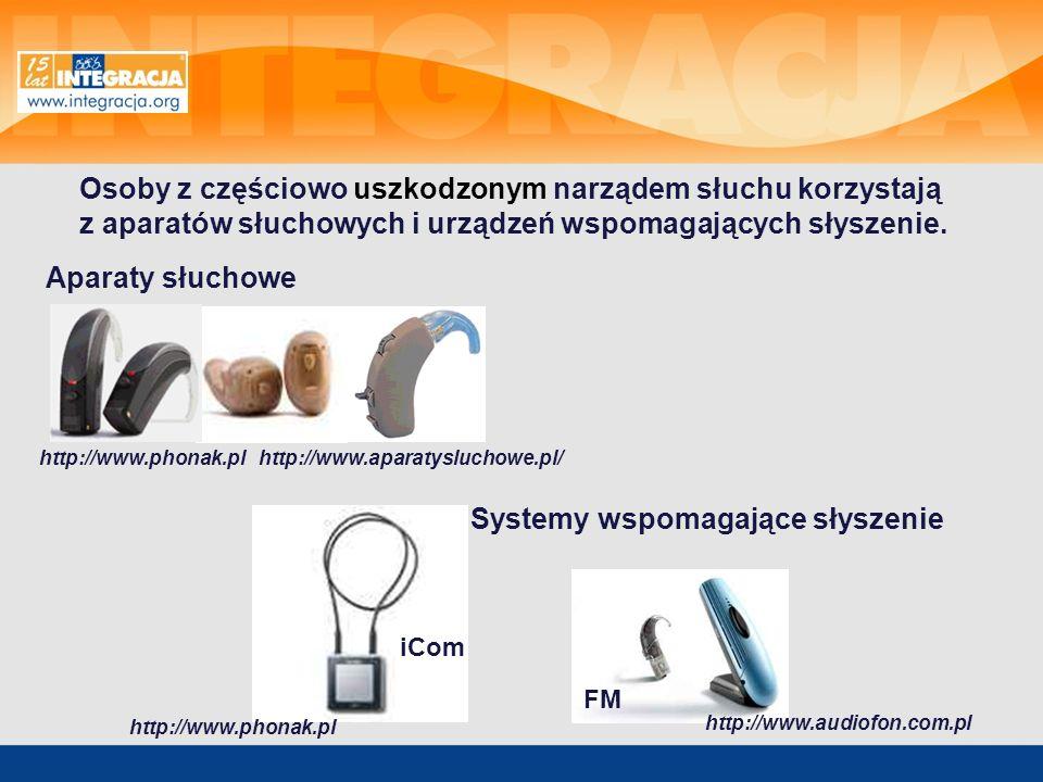 http://www.phonak.pl http://www.aparatysluchowe.pl/ http://www.audiofon.com.pl Aparaty słuchowe iCom Osoby z częściowo uszkodzonym narządem słuchu kor