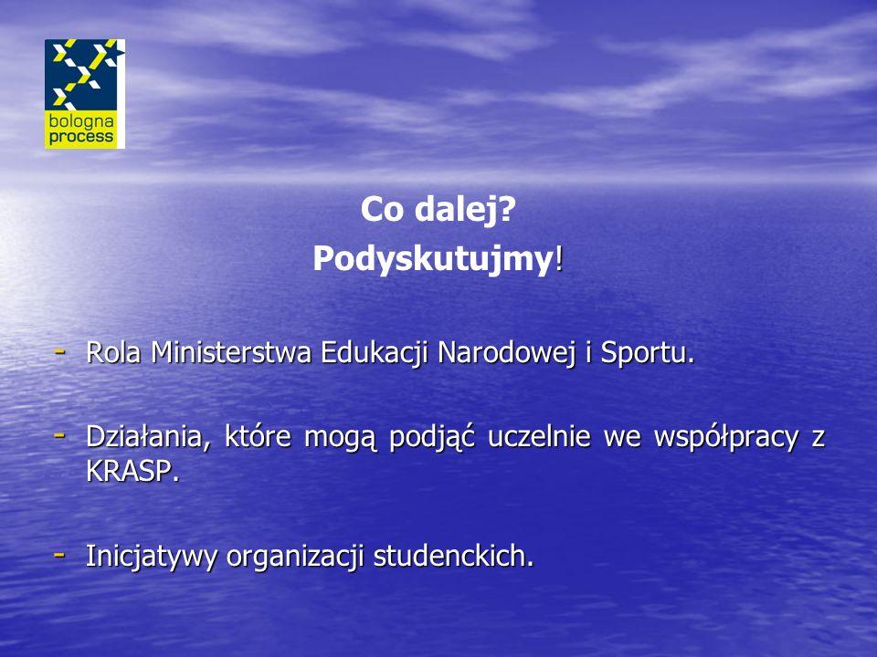 Co dalej.Podyskutujmy. - Rola Ministerstwa Edukacji Narodowej i Sportu.