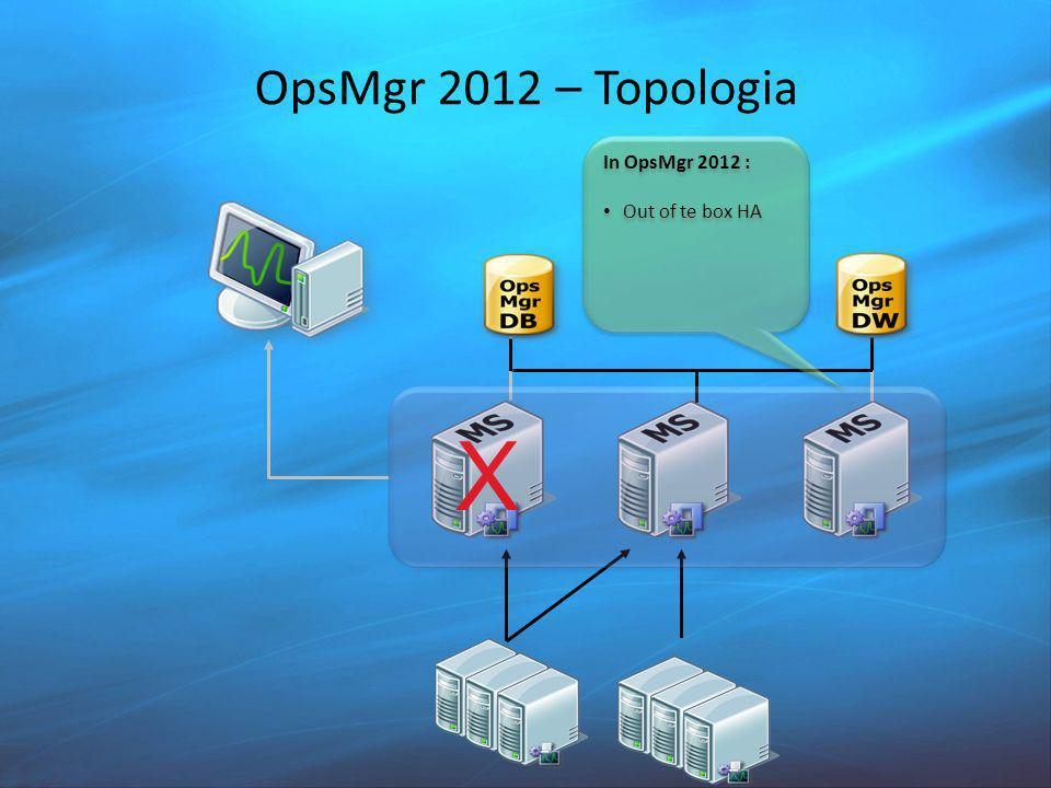 OpsMgr 2012 – Topologia X In OpsMgr 2012 : Out of te box HA In OpsMgr 2012 : Out of te box HA