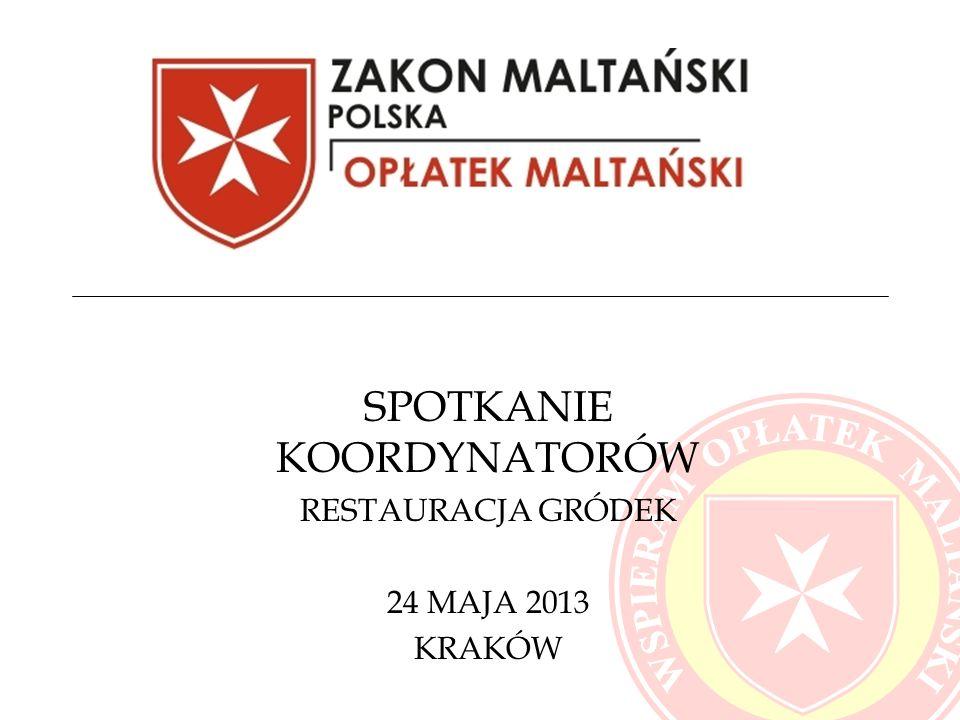 SPOTKANIE KOORDYNATORÓW RESTAURACJA GRÓDEK 24 MAJA 2013 KRAKÓW