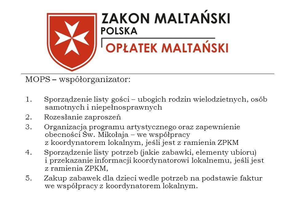 MOPS – współorganizator: 1.