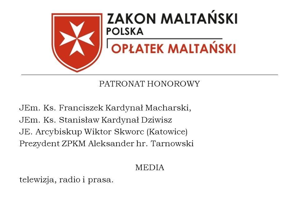 PATRONAT HONOROWY JEm. Ks. Franciszek Kardynał Macharski, JEm.