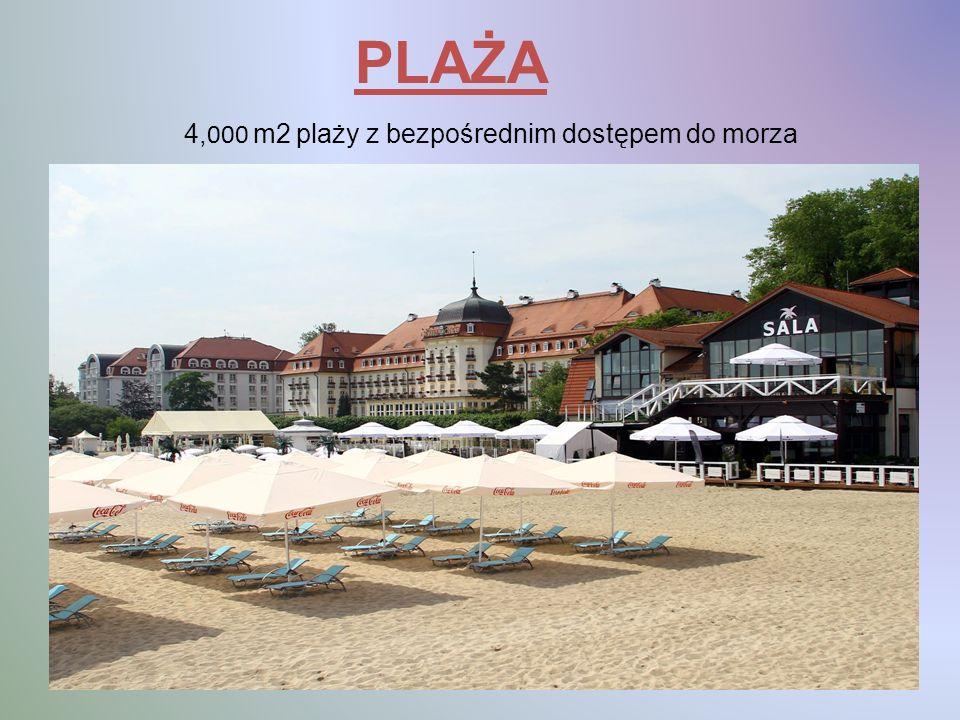 PLAŻA 4, 000 m2 plaży z bezpośrednim dostępem do morza