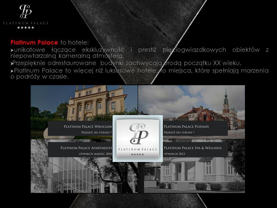 Platinum Palace to hotele: unikatowe łączące ekskluzywność i prestiż pięciogwiazdkowych obiektów z niepowtarzalną kameralną atmosferą. Przepięknie odr