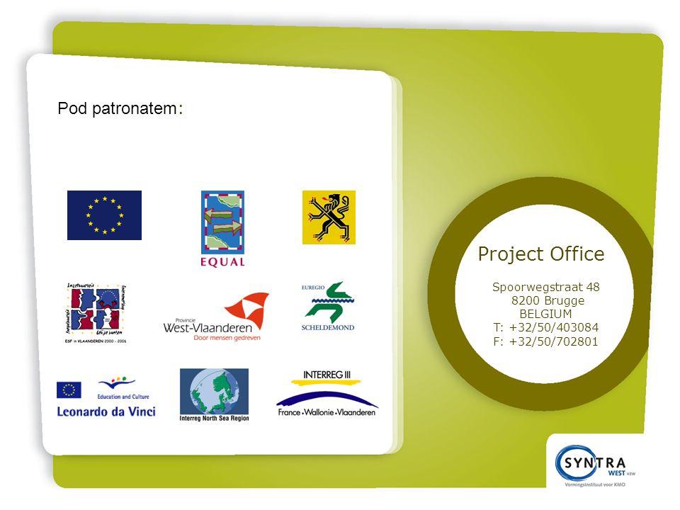 Pod patronatem : Project Office Spoorwegstraat 48 8200 Brugge BELGIUM T: +32/50/403084 F: +32/50/702801