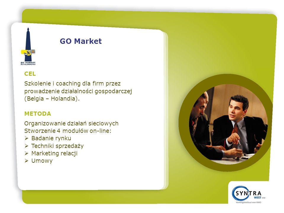 CEL Szkolenie i coaching dla firm przez prowadzenie działalności gospodarczej (Belgia – Holandia).