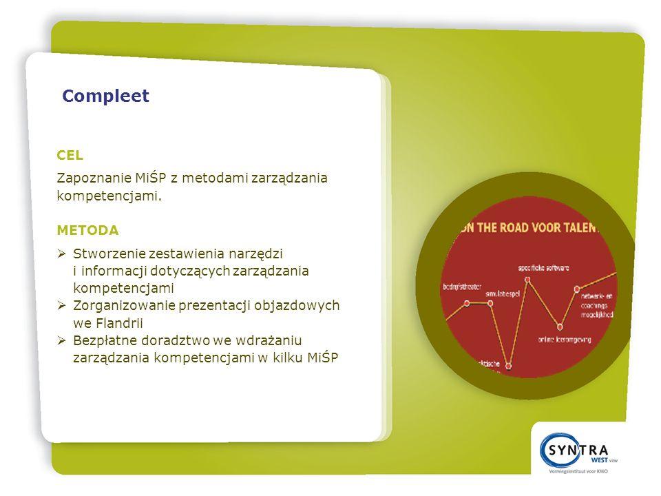 CEL Zapoznanie MiŚP z metodami zarządzania kompetencjami.