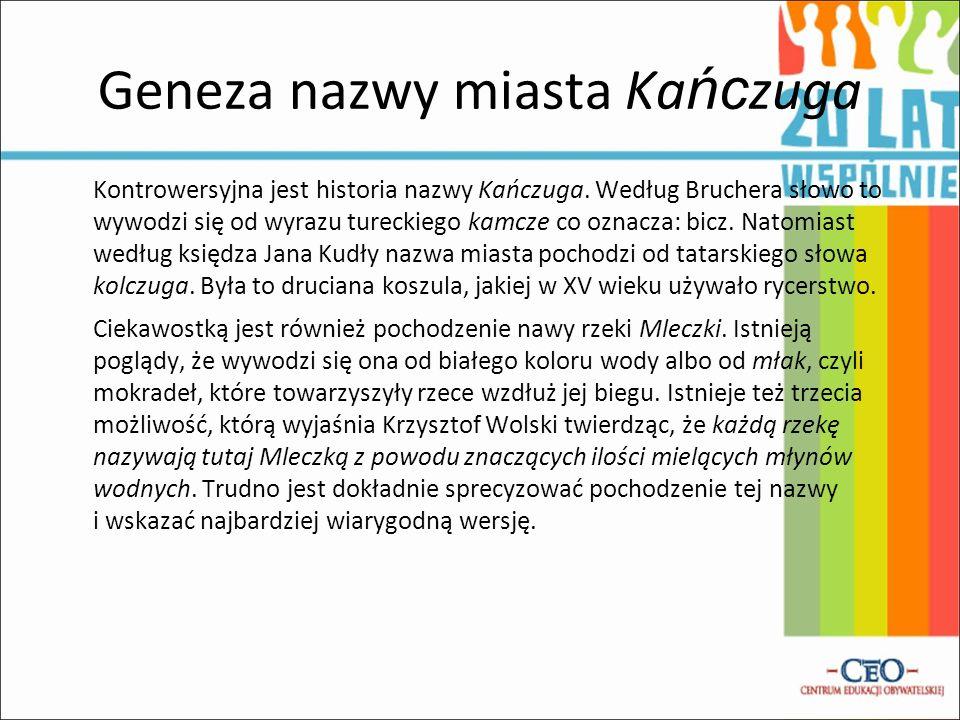 Geneza nazwy miasta Ka ńc zuga Kontrowersyjna jest historia nazwy Kańczuga.