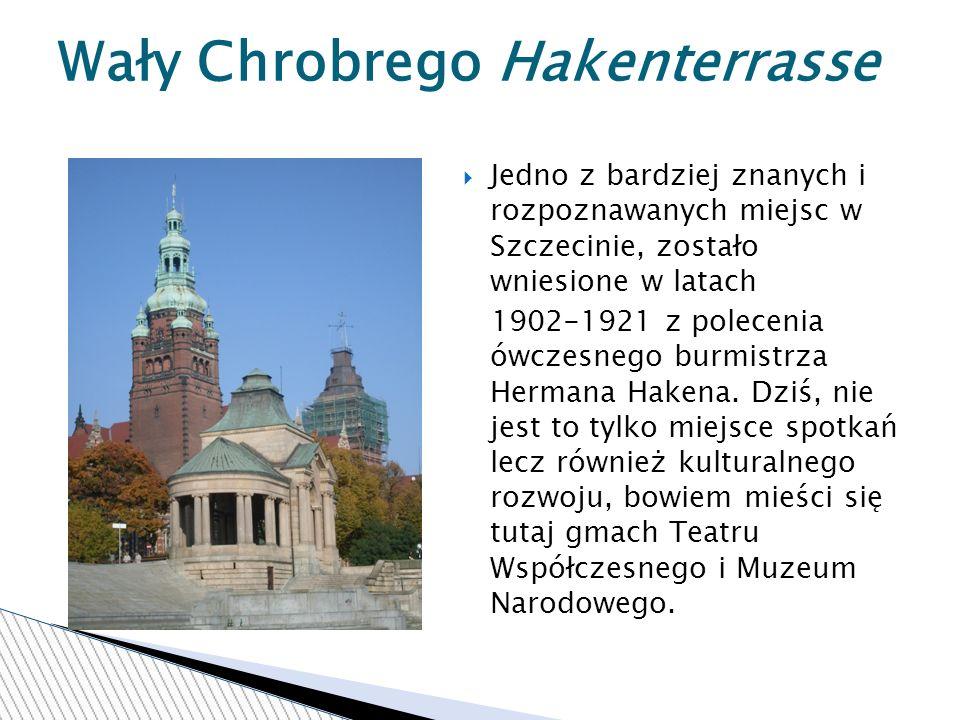 Jedno z bardziej znanych i rozpoznawanych miejsc w Szczecinie, zostało wniesione w latach 1902-1921 z polecenia ówczesnego burmistrza Hermana Hakena.