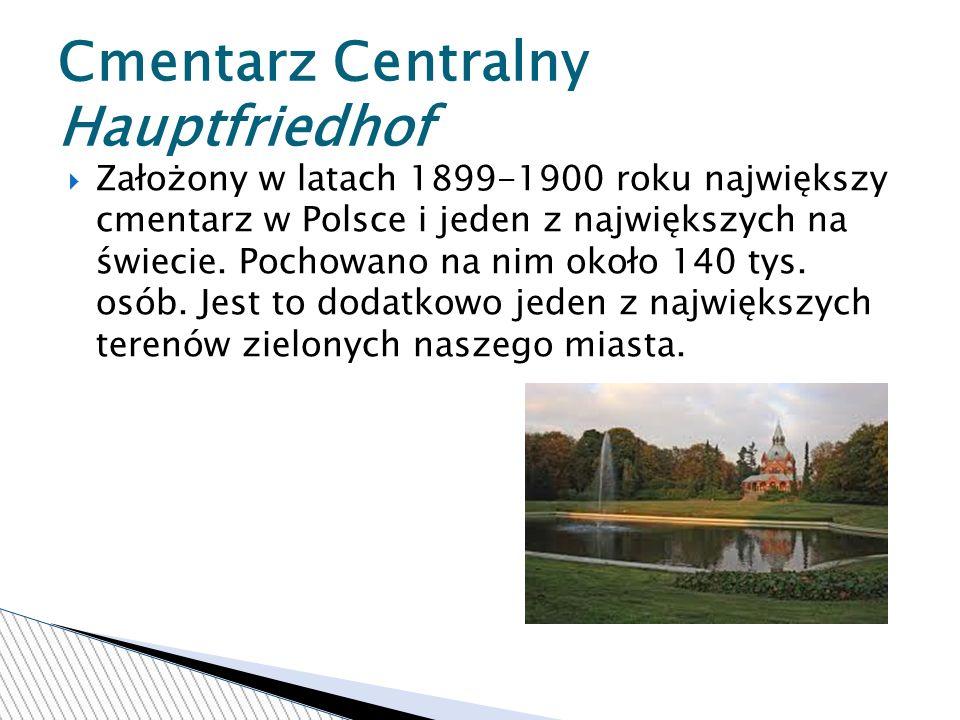 Założony w latach 1899-1900 roku największy cmentarz w Polsce i jeden z największych na świecie.