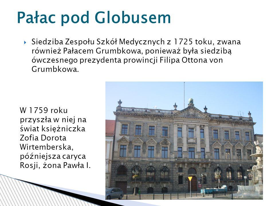 Siedziba Zespołu Szkół Medycznych z 1725 toku, zwana również Pałacem Grumbkowa, ponieważ była siedzibą ówczesnego prezydenta prowincji Filipa Ottona von Grumbkowa.