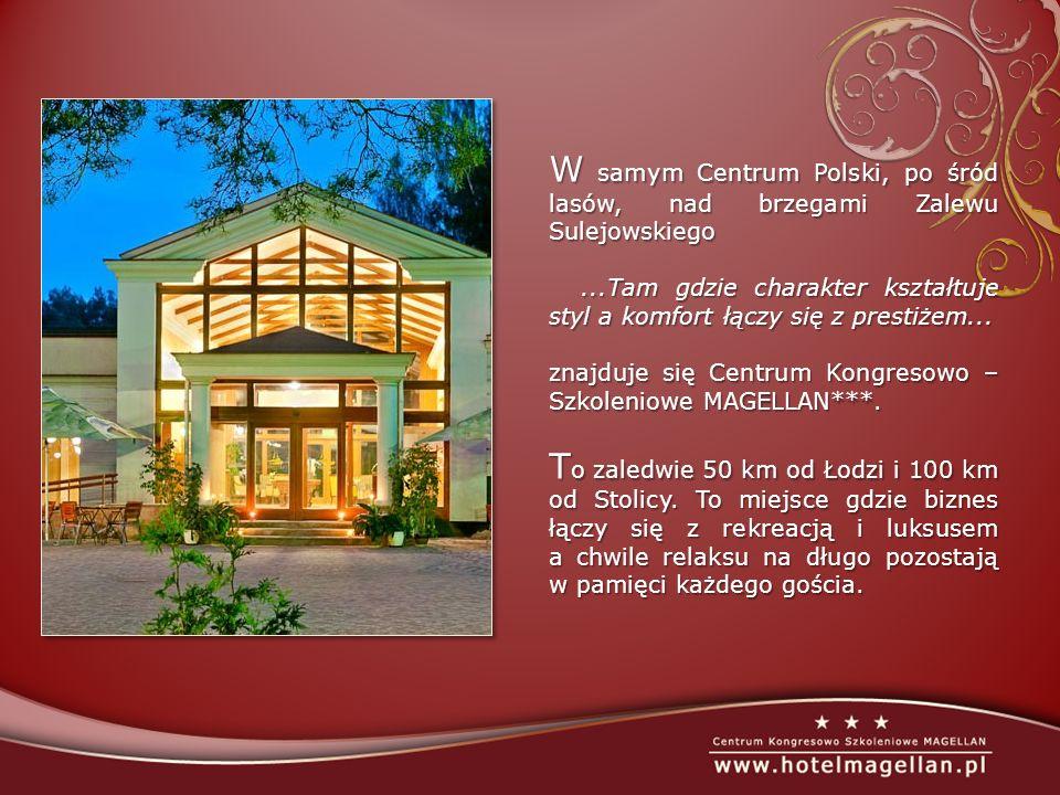 H otel MAGELLAN*** dysponuje 121 przestronnymi i kompleksowo wyposażonymi pokojami mogącymi przyjąć w tym samym czasie 242 gości.