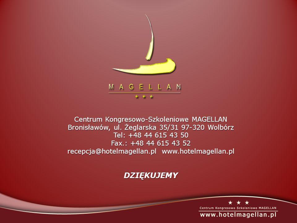 Centrum Kongresowo-Szkoleniowe MAGELLAN Bronisławów, ul. Żeglarska 35/31 97-320 Wolbórz Tel: +48 44 615 43 50 Fax.: +48 44 615 43 52 recepcja@hotelmag