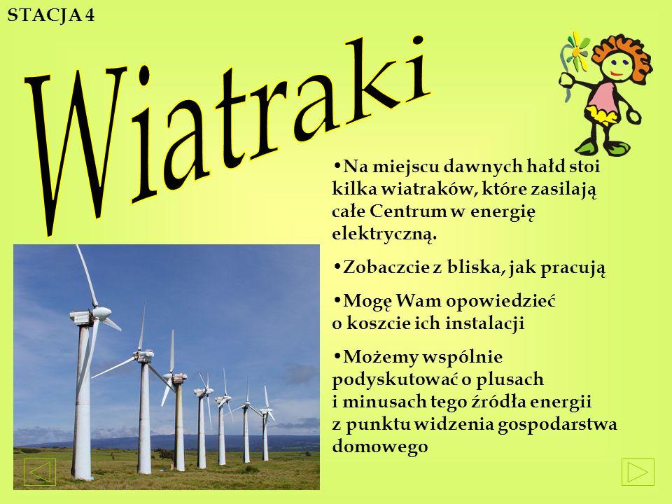 N a miejscu dawnych hałd stoi kilka wiatraków, które zasilają całe Centrum w energię elektryczną.