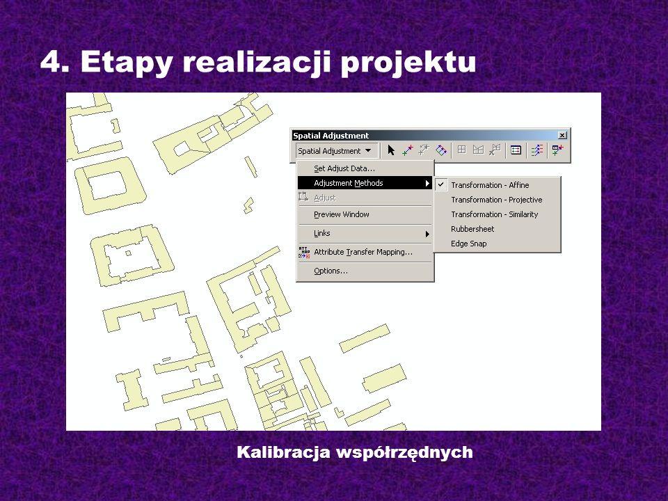 Kalibracja współrzędnych 4. Etapy realizacji projektu