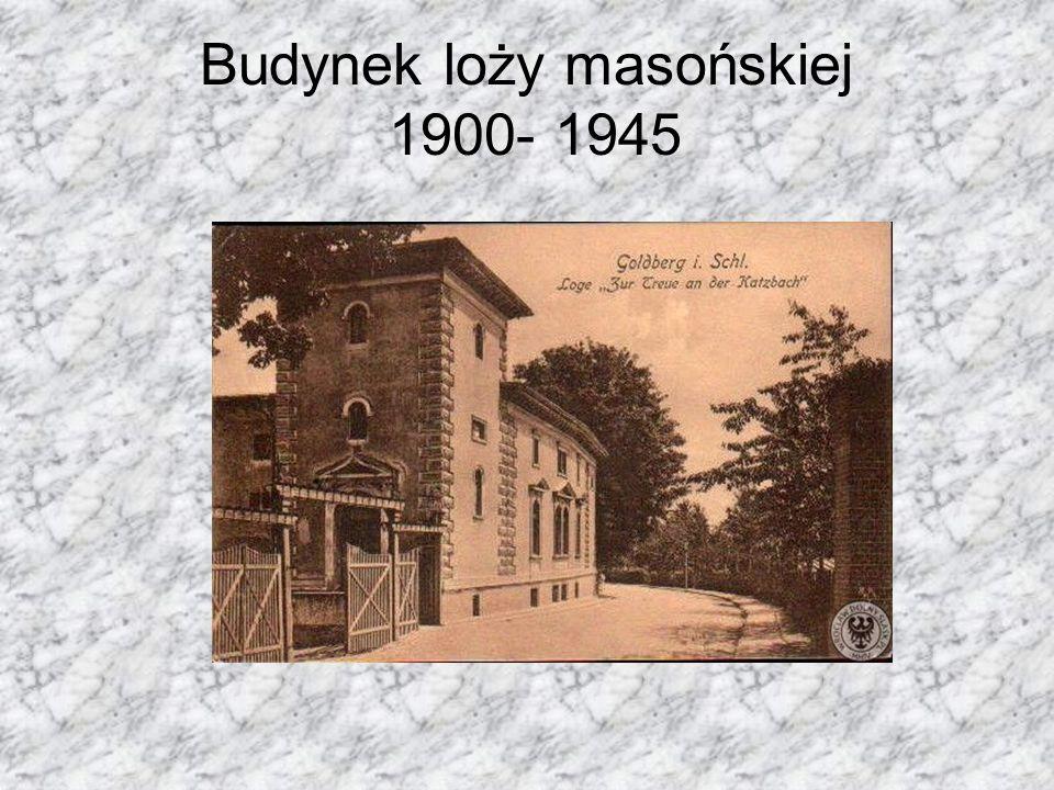 Budynek loży masońskiej 1900- 1945