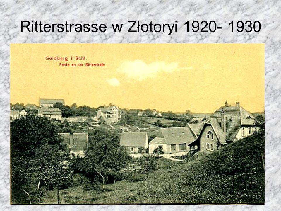 Ritterstrasse w Złotoryi 1920- 1930