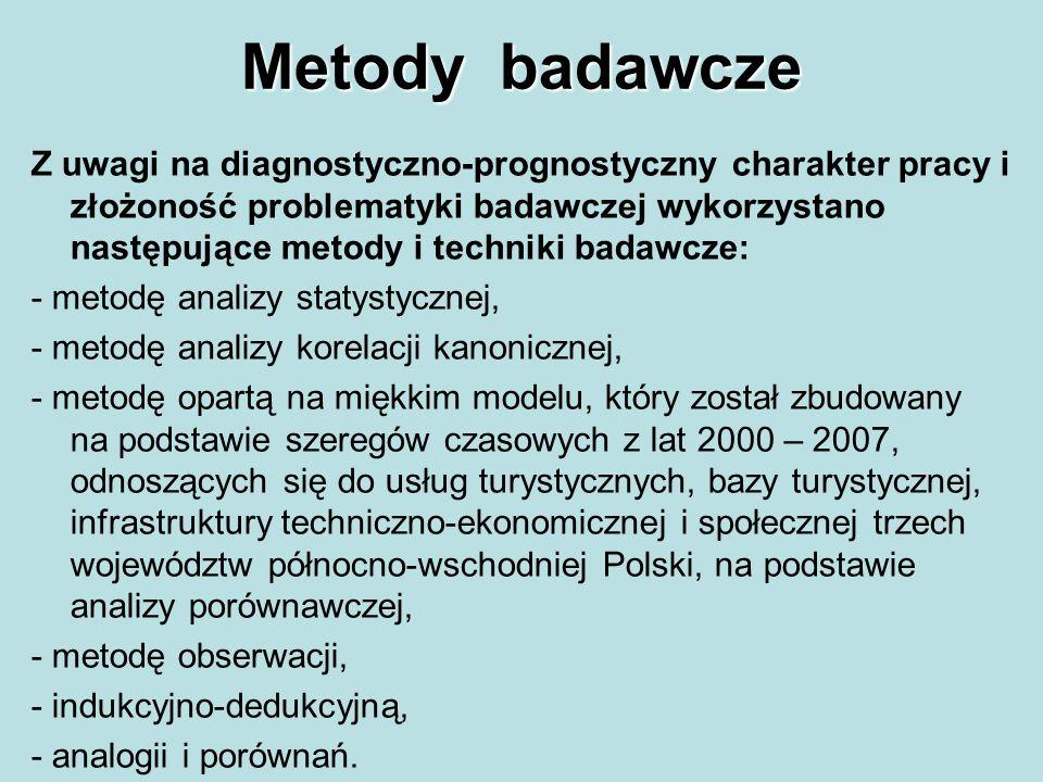 Metody badawcze Z uwagi na diagnostyczno-prognostyczny charakter pracy i złożoność problematyki badawczej wykorzystano następujące metody i techniki b