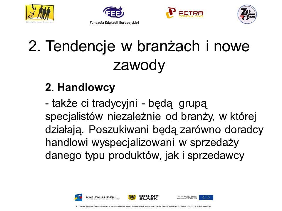 2.Tendencje w branżach i nowe zawody 2.